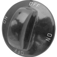 All Points 22-1196 1 5/16 inch Fryer / Hot Dog Steamer / Popcorn Popper Rotary Switch Knob (Off, On)