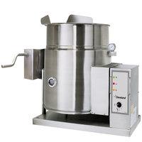 Cleveland KGT-12-TGB Liquid Propane 12 Gallon Tilting 2/3 Steam Jacketed Tabletop Kettle - 53,000 BTU