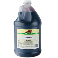 Fox's Grape Slush Syrup - (4) 1 Gallon Containers / Case