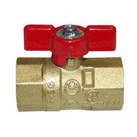 Garland / US Range 1265900 Equivalent Gas Ball / Shut-Off Valve; 3/4 inch Gas In / Out