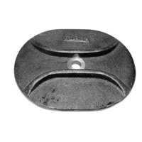 All Points 24-1000 4 3/4 inch X 6 3/4 inch Boiler / Steamer Hand Hole Cover
