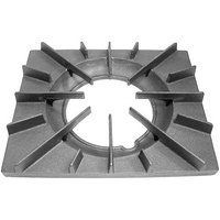All Points 24-1144 13 1/4 inch x 11 1/8 inch Cast Iron Open Top Spider Grate with Built-In Bowl