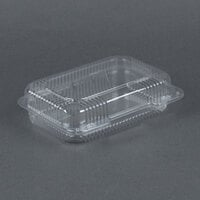 Dart Solo C32UT1 StayLock 9 3/8 inch x 6 3/4 inch x 2 5/8 inch Clear Hinged Plastic Medium Medium Dome Oblong Container - 250/Case