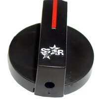 All Points 22-1375 1 7/8 inch Star Hot Dog Warmer / Steamer / Grill / Griddle Knob with Pointer