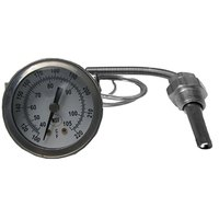 All Points 62-1083 Thermometer; 100 - 220 Degrees Fahrenheit; 1/2 inch Rear Mount U-Clamp