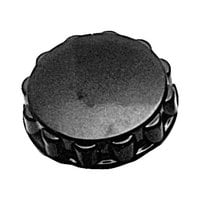 Hobart 77371 Equivalent 2 1/2 inch Fluted Black Knob for Hobart Food Choppers