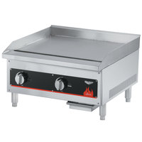 Vollrath 40722 Cayenne 24 inch Flat Top Gas Countertop Griddle - Thermostatic Control