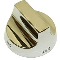 All Points 22-1165 2 1/2 inch Broiler / Grill / Stock Pot / Wok Range Top Burner Valve Knob (Off, On)