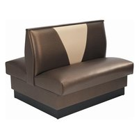 American Tables & Seating AD-36VN Double V Shape Back Booth - 36 inch High