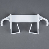 Over-the-Door T-Leg White Ironing Board Holder / Hanger
