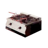 Garland ED-30SFT Designer Series 34 lb. Dual Tank Electric Countertop Super Deep Fryer - 240V, 3 Phase, 16 kW