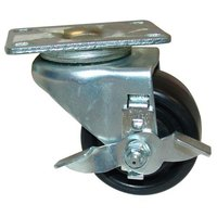 All Points 26-3243 3 inch Swivel Plate Caster with Brake - 500 lb. Capacity
