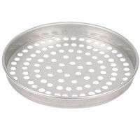 American Metalcraft SPT4009 9 inch x 1 inch Super Perforated Tin-Plated Steel Straight Sided Pizza Pan