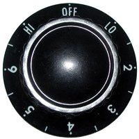 All Points 22-1166 2 inch Hot Dog Steamer / Warmer Infinite Switch Knob (Off, Lo, 2-6, Hi)