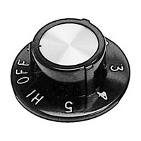 All Points 22-1301 2 1/2 inch Warmer / Hotplate Dial (Off, Lo, 1-5, Hi)