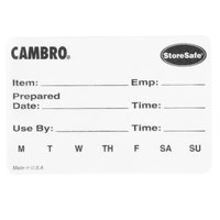 Cambro 23SLB6250 2 inch x 3 inch StoreSafe Dissolvable Product Label 250 / Roll - Printed - 6/Case