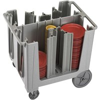 Cambro ADCS480 Speckled Gray S Series Adjustable Dish Caddy with Vinyl Cover