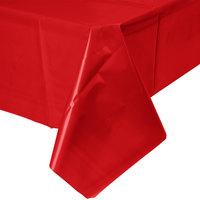 Creative Converting 011031B 54 inch x 108 inch Classic Red Disposable Plastic Table Cover - 24 / Case