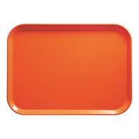 Cambro 2632220 10 7/16 inch x 12 3/4 inch (26,5 x 32,5 cm) Rectangular Metric Citrus Orange Fiberglass Camtray - 12 / Case