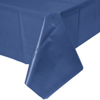 Creative Converting 010140B 54 inch x 108 inch Navy Blue Disposable Plastic Table Cover - 24 / Case