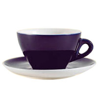 CAC E-11-CBU Venice 11 oz. Blue Cup with 6 1/2 inch Saucer - 24 Sets / Case