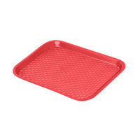 "GET FT-16-R Red 16 1/4"" x 12"" Polypropylene Fast Food Tray - 24/Case"