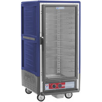 Metro C537-HFC-U-BU C5 3 Series Heated Holding Cabinet with Clear Door - Blue