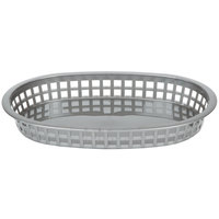 Tablecraft 1076GM Gray Oval Chicago Platter Polypropylene Basket - 12 / Pack