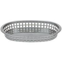 Tablecraft 1076GM Gray Oval Chicago Platter Polypropylene Basket - 12/Pack