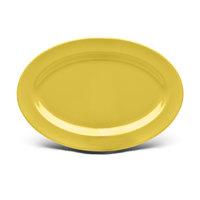 Elite Global Solutions D812OV Urban Naturals Olive Oil 12 3/4 inch x 8 3/4 inch Oval Melamine Platter