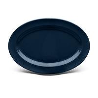 Elite Global Solutions D812OV Urban Naturals Lapis 12 3/4 inch x 8 3/4 inch Oval Melamine Platter