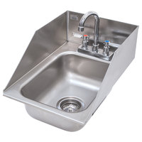 Advance Tabco DI-1-5SP Drop In Stainless Steel Sink with Side Splash 5 inch Deep