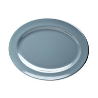 Elite Global Solutions D1014OV Urban Naturals Abyss 14 1/2 inch x 10 1/2 inch Oval Melamine Platter