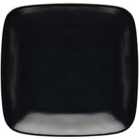 Elite Global Solutions D7SQR Radius 6 5/8 inch Black Rounded Edge Square Plate