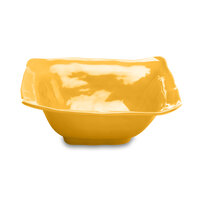 Elite Global Solutions M13BRF Tuscany Yellow 4 qt. Square Bowl