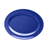 Elite Global Solutions D1014OV Rio Winter Purple 14 1/2 inch x 10 1/2 inch Oval Melamine Platter