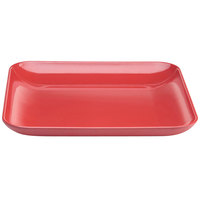 Elite Global Solutions M1325SQCBR The Modernist Cranberry 13 1/4 inch Square Melamine Platter
