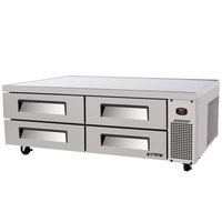 Turbo Air TCBE-72SDR 72 inch Four Drawer Refrigerated Chef Base - 15 cu. ft.