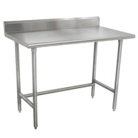 Advance Tabco TKMSLAG-247-X 84 inch x 24 inch 16 Gauge Professional Stainless Steel Work Table with 5 inch Backsplash