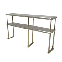 Advance Tabco EDS-12-96 Stainless Steel Double Deck Knock Down Overshelf - 96 inch x 12 inch