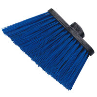 Carlisle 3686814 Duo-Sweep Heavy Duty Angled Broom Head with Unflagged Blue Bristles - 12/Case