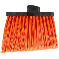Carlisle 3686724 Duo-Sweep Medium Duty Angled Broom Head with Flagged Orange Bristles