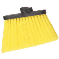 Carlisle 3686804 Duo-Sweep Heavy Duty Angled Broom Head with Unflagged Yellow Bristles - 12/Case