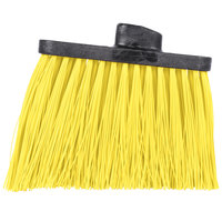 Carlisle 3686804 Duo-Sweep Heavy Duty Angled Broom Head with Unflagged Yellow Bristles