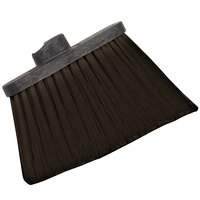Carlisle 3686801 Duo-Sweep Heavy Duty Angled Broom Head with Unflagged Brown Bristles - 12/Case