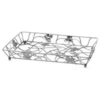 Elite Global Solutions WB12182 Chrome Rectangular Metal Leaf Wire Basket - 18 inch x 12 inch x 2 inch