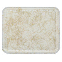 Cambro 2632526 10 7/16 inch x 12 3/4 inch (26,5 x 32,5 cm) Rectangular Metric Galaxy Antique Parchment Gold Fiberglass Camtray - 12 / Case