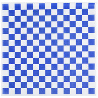 Choice 15 inch x 15 inch Blue Check Deli Sandwich Wrap Paper - 1000 / Pack
