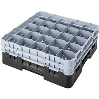 Cambro 25S958110 Camrack 10 1/8 inch High Black 25 Compartment Glass Rack