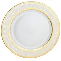 10 Strawberry Street IRIANA-24(GLD) 12 inch Iriana Gold Round Charger Plate